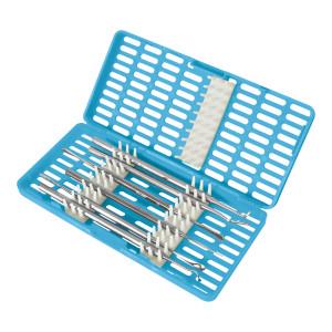 Contenitore Celeste per la sterilizzazione di strumenti