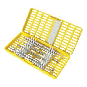 Contenitore Giallo per la sterilizzazione di strumenti