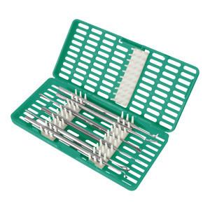 Contenitore Verde per la sterilizzazione di strumenti