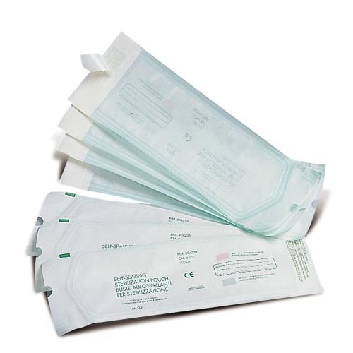 Buste autosigillanti per il confezionamento di strumenti per sterilizzazione 9 x 23 cm 200 pz
