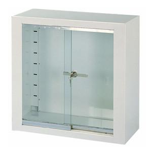 Pensile inox bianco/vetro 60x30x60