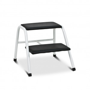Black two-step ladder