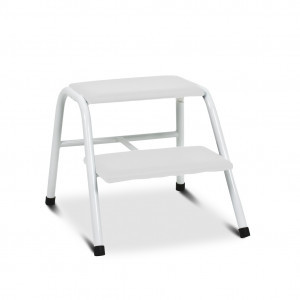 Upholstered two-step ladder