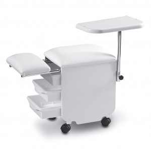 Manicure/pedicure white seat w. drawers