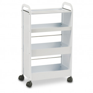 Metal trolley with 4 shelves