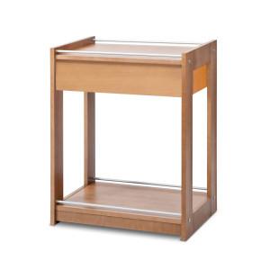Carrello legno 2 ripiani+cassetto