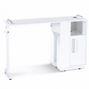White manicure table compact
