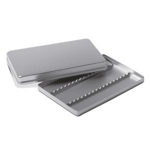 Aluminium tray with lid