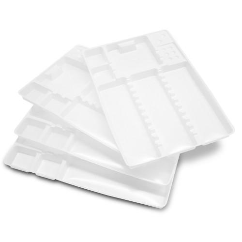 Ricambi monouso con scomparti per vassoio poggia strumenti in Alluminio con coperchio 100 pz