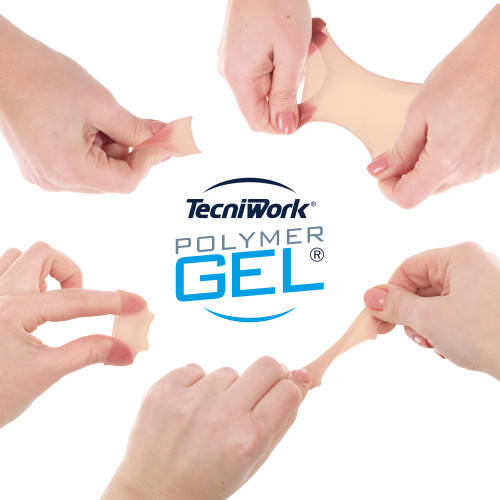 Fascetta tubolare per dita dei piedi in Tecniwork Polymer Gel color pelle misura Small 4 pz