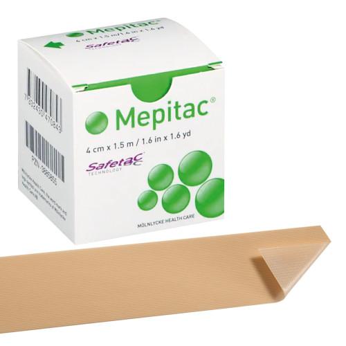 Cerotto in silicone per fissaggio medicazioni Mepitac 4 cm x 1,5 m 1 pz