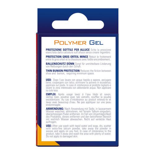 Protezione sottile per alluce in Tecniwork Polymer Gel trasparente 1 pz