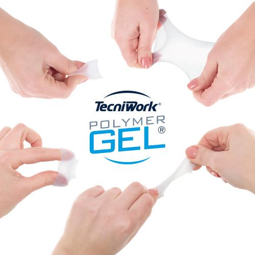 Fascetta tubolare per dita dei piedi in Tecniwork Polymer Gel trasparente misura Medium 4 pz