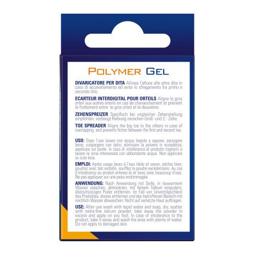 Divaricatore per dita dei piedi in Tecniwork Polymer Gel trasparente misura Small 1 pz