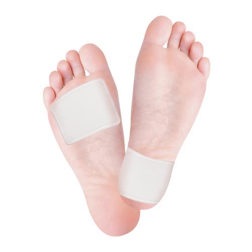 Lastra adesiva per il piede in Tecniwork Polymer Gel trasparente 10 cm x 10 cm 2 pz