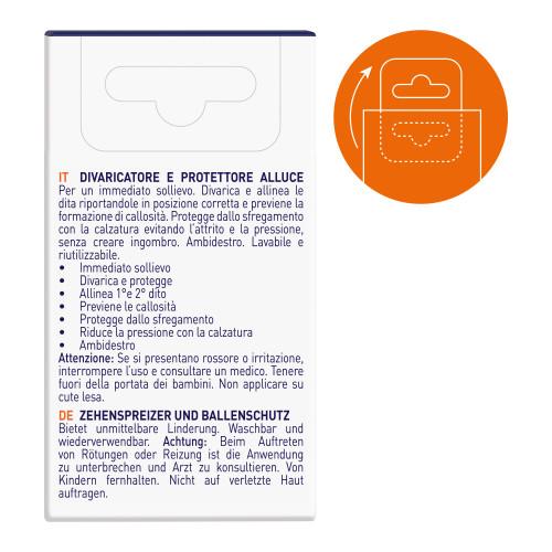 Divaricatore e protettore in gel per alluce Alluxcare 1 pz