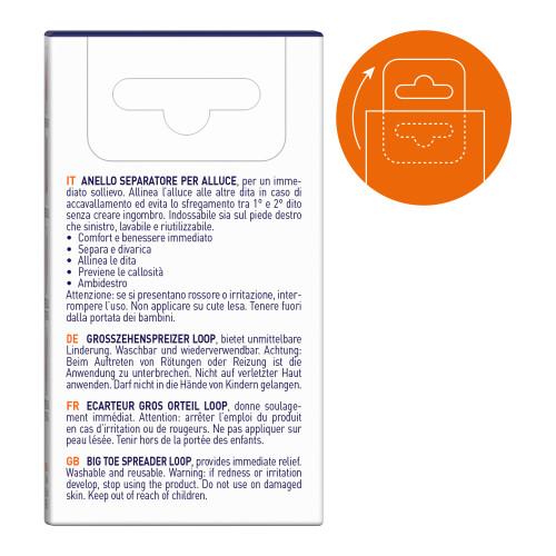 Anello separatore in gel per alluce Alluxcare misura Small 1 pz