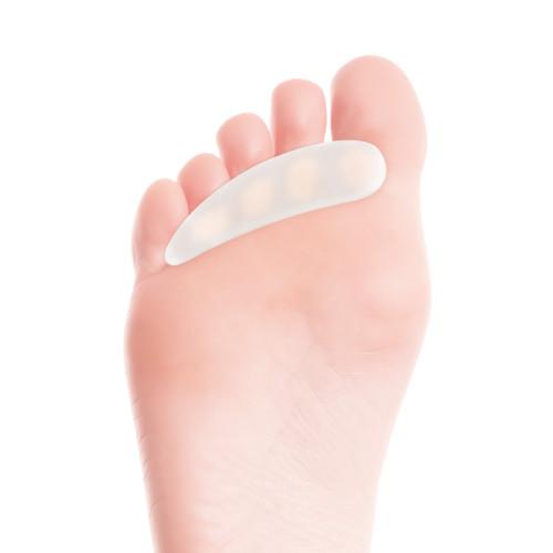 Cuscinetto in gel con anelli per dita dei piedi - misura Medium/Large per piede destro 1 pz