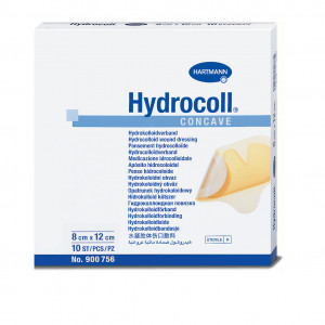 Hydrocoll Concave - Medicazione idrocolloidale sagomata di forma concava 8 cm x 12 cm 10 pz