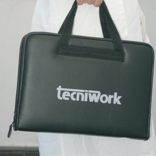 Valigetta nera porta strumenti con logo Tecniwork
