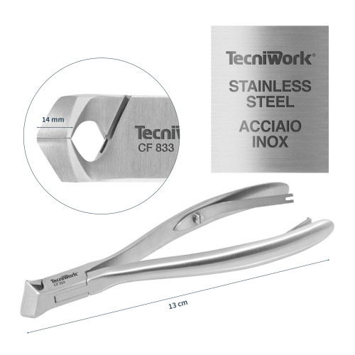 Tronchese professionale con punta tonda per unghie Taglio Quarto di Luna 14 mm