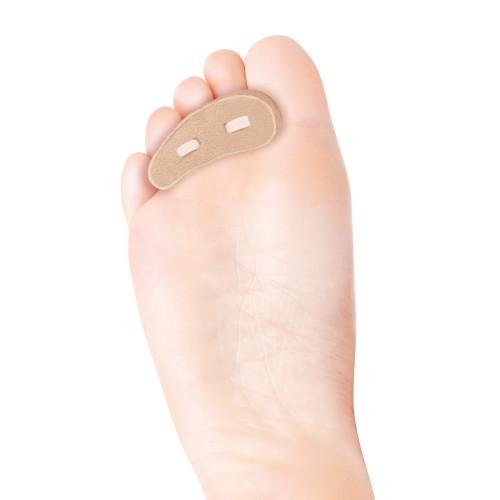 Cuscinetto per dita del piede rivestito in pelle scamosciata misura Large 1 paio