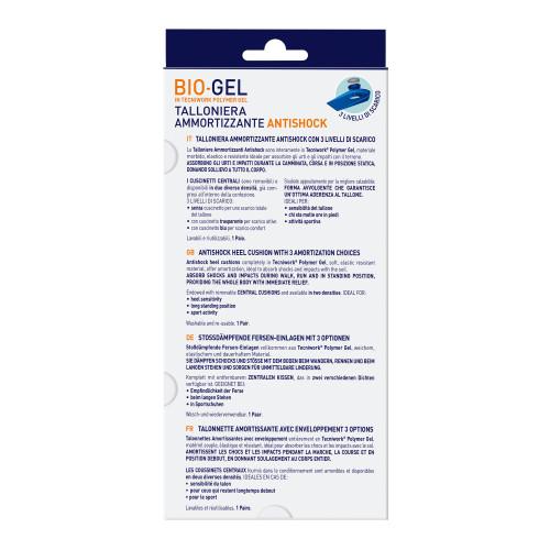Talloniere ammortizzanti con cuscinetti removibili Bio-Gel Comfort Plus Misura S 1 paio