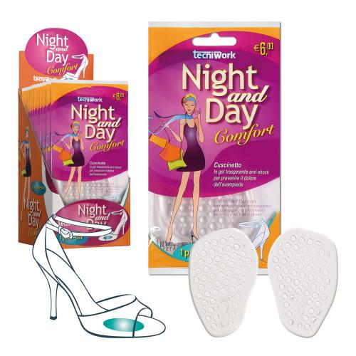 Cuscinetto invisibile per avampiede in gel trasparente  Night and Day Espositore da 12 confezioni