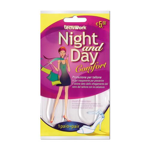 Protezione invisibile per tallone in gel trasparente Night and Day 1 paio