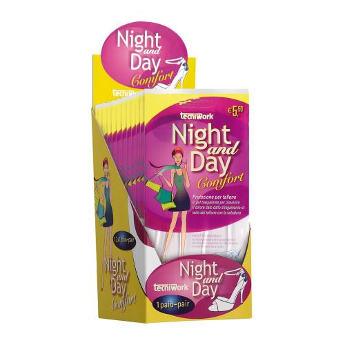 Protezione invisibile per tallone in gel trasparente Night and Day Espositore da 12 confezioni