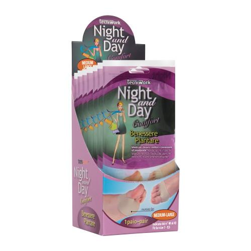 Cuscinetto Benessere Plantare in tessuto e gel Night and Day Misura M/L Espositore da 6 confezioni