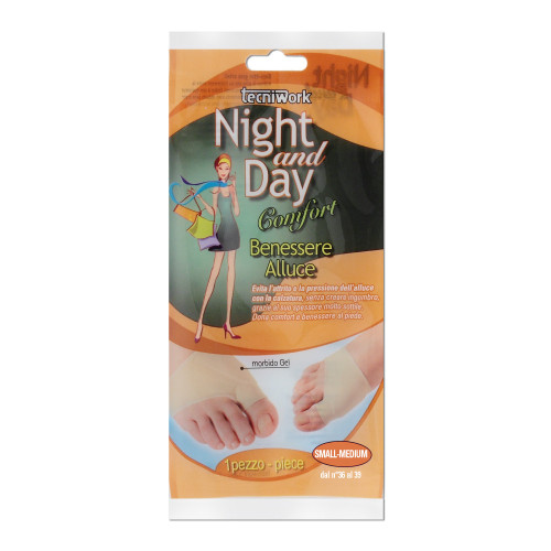 Cuscinetto Benessere Alluce in tessuto e gel Night and Day Misura S/M Espositore da 6 confezioni