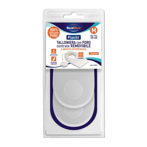 Talloniere in silicone con cuscinetto centrale removibile misura Medium 1 paio