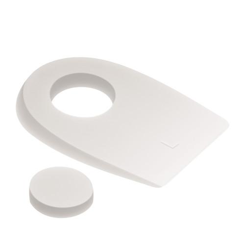 Talloniere in silicone con cuscinetto centrale removibile misura Large 1 paio