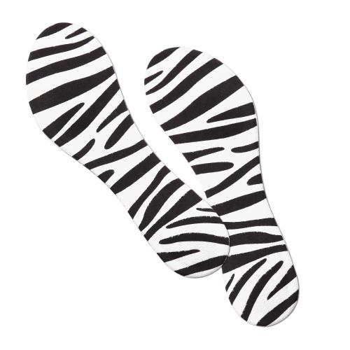 Solette ¾ in schiuma fantasia Zebra Night and Day Espositore da 6 paia