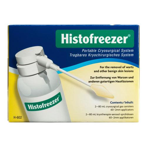 Trattamento crioterapico per verruche con 2 bombole da 80 ml e 60 applicatori monouso da 2 mm Histofreezer