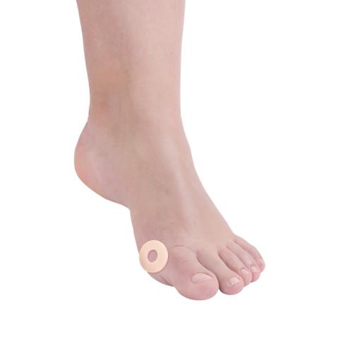 Paracalli protettivi per il piede tondi grandi con foro centrale in lattice 4 pz