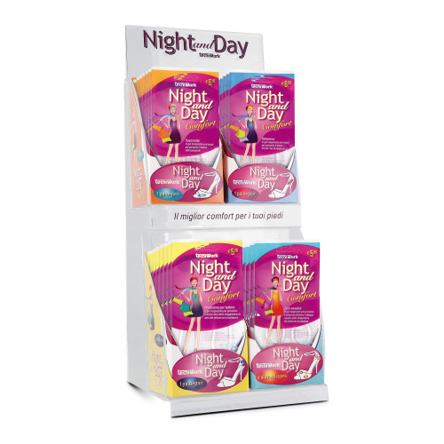 Protezioni invisibili Piedi Night and Day Espositore da 48 confezioni