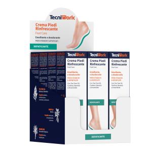 Crema piedi rinfrescante, emolliente e deodorante 75 ml Espositore da 12 pz