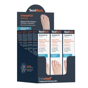 Balsamo piedi idratante e riparatore con 10% di Urea Uremed+10 75 ml Espositore da 12 pz