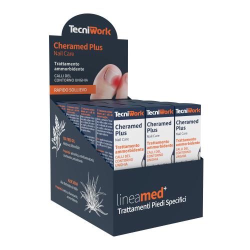 Trattamento unghie ammorbidente per calli del contorno unghia Cheramed Plus 15 ml Espositore da 12 pz