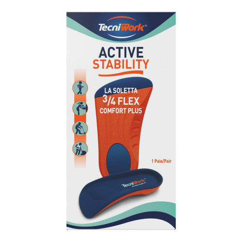 Solette ¾ flessibili Flex Comfort Plus Active   Stability Espositore da 8 paia