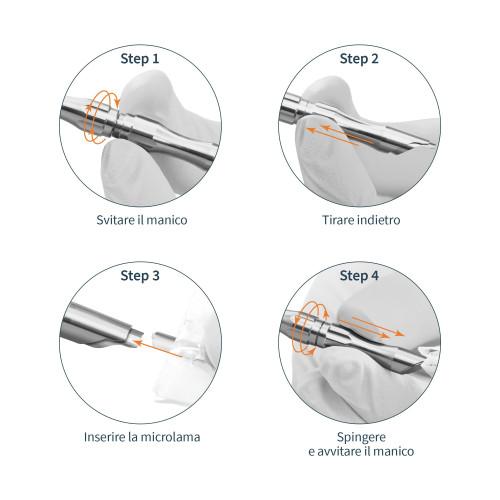 Invito alla prova Microlame Secure Lock professionali in misure assortite 40 pz
