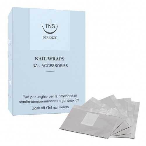 Nail Wraps tns 100 pz - Pads per la rimozione di gel Soak Off