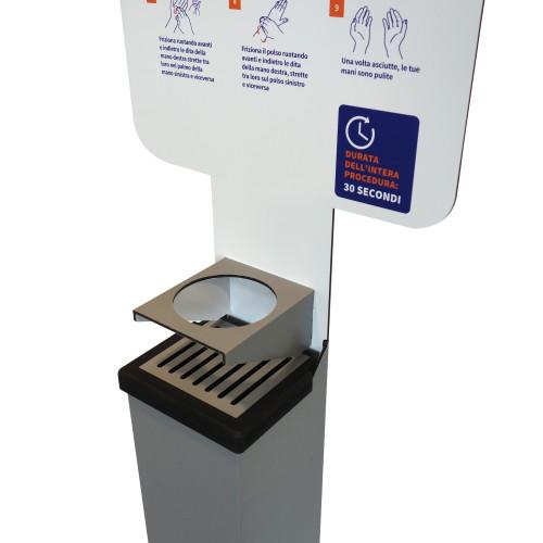 Colonna Punto Igiene con Dispenser per Gel Mani