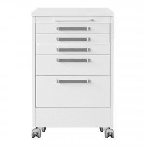 Service unit 5 drawers w.casters