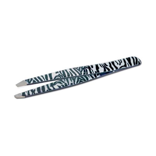Pinzetta professionale per sopracciglia Zebra con Punta Obliqua