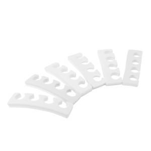 Ecarte-orteils 6 paires blanc pour vernis-ongles