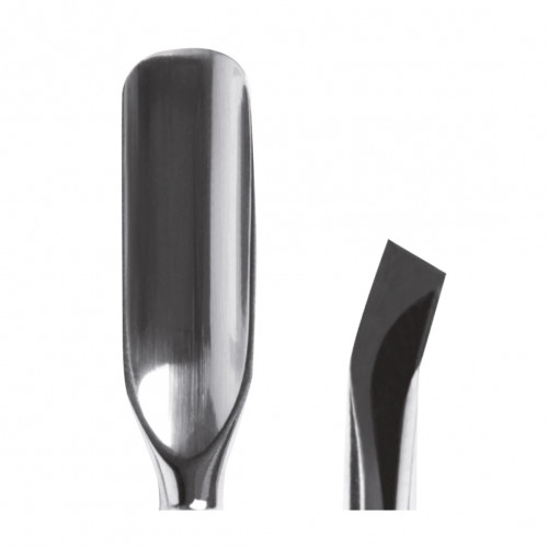 Spingipelle professionale in Acciaio Inox a doppia punta concava e uncinata-angolata