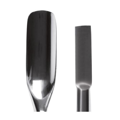 Spingipelle professionale in Acciaio Inox a doppia punta concava e piatta-rettangolare